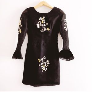 Vintage Silk Dress with Embroidery